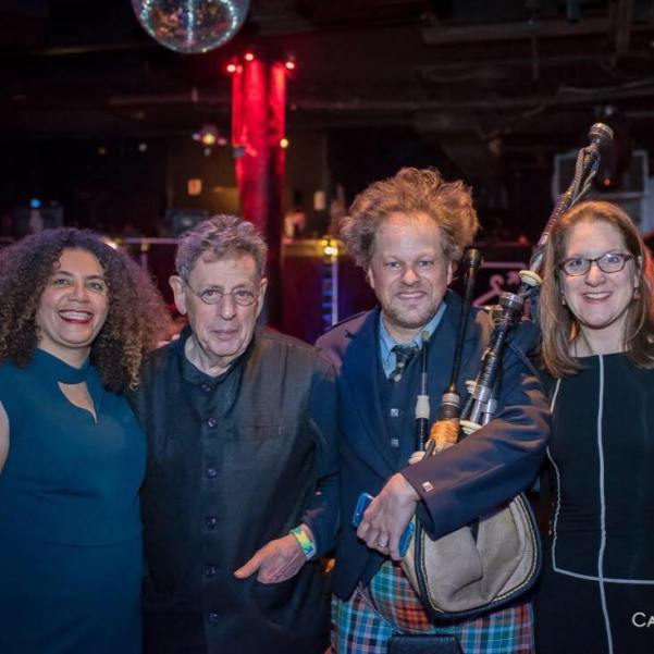 Matthew With Philip Glass, Lisa Bielawa and Valérie Sainte-Agathe